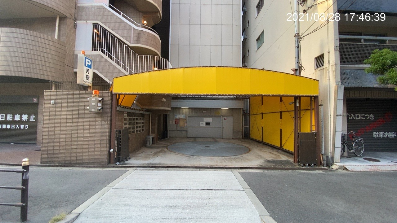 【月極駐車場 大阪市中央区十二軒町】コーファセントラル駐車場
