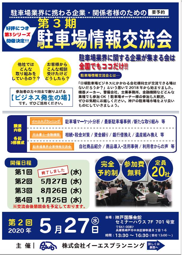 【延期】第3期 2回 駐車場情報交流会